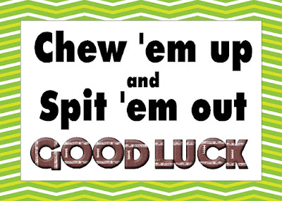 Wish your favorite football team good luck before their next game with this fun football team snack printable. This printable bag topper is the perfect team snack when paired with some bubblegum treats and lots of good luck wishes.