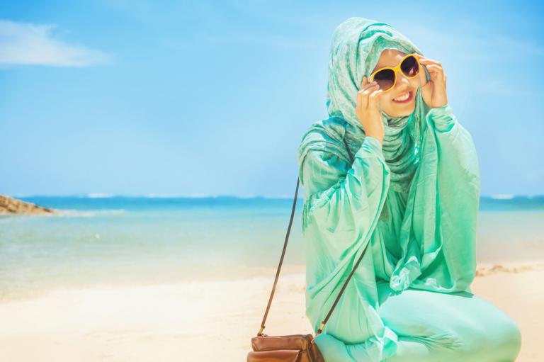 Tips Fesyen Muslimah Ke Pantai,tips berpakaian ke pantai, pakaian muslimah ke pantai, style ke pantai, hijabista ke pantai, bohey dulang,