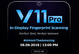 Vivo V11 Pro Teaser on Amazon India