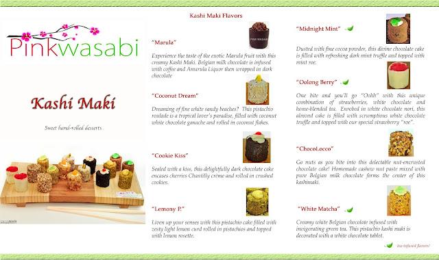 kashi maki menu