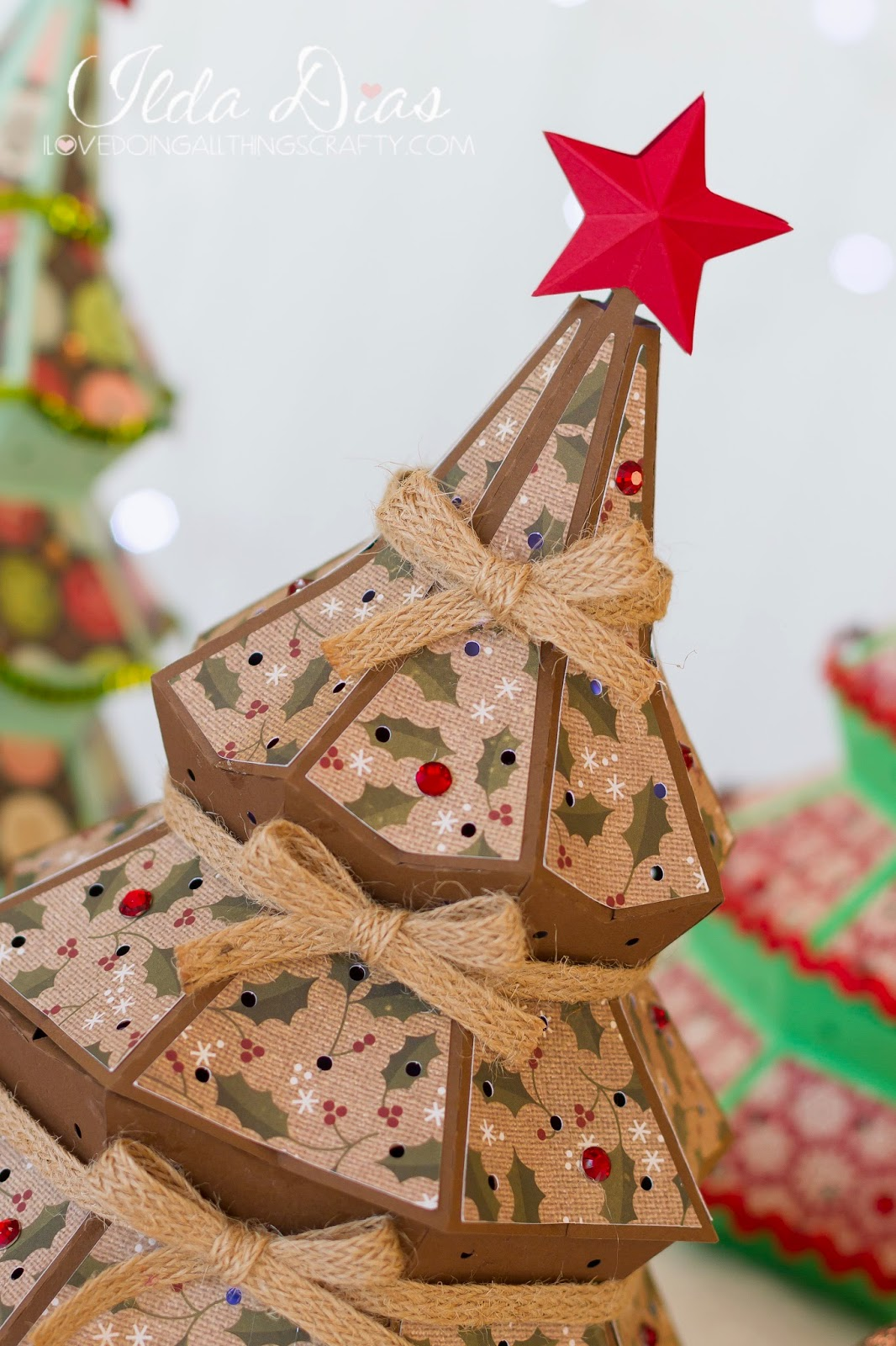 3d Create Your Own Room: I Love Doing All Things Crafty: 3D Christmas Tree Luminary