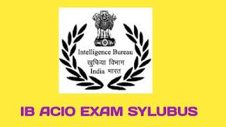IB ACIO Syllabus and Exam Pattern 2021