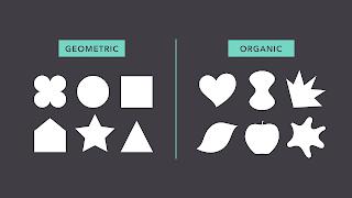 Dasar-dasar Desain Grafis shape atau bentuk geo organic