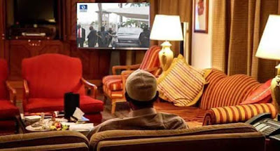 President Buhari Watching The NASS Invasion From London