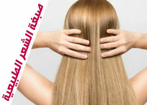 صبغة الشعر الطبيعية