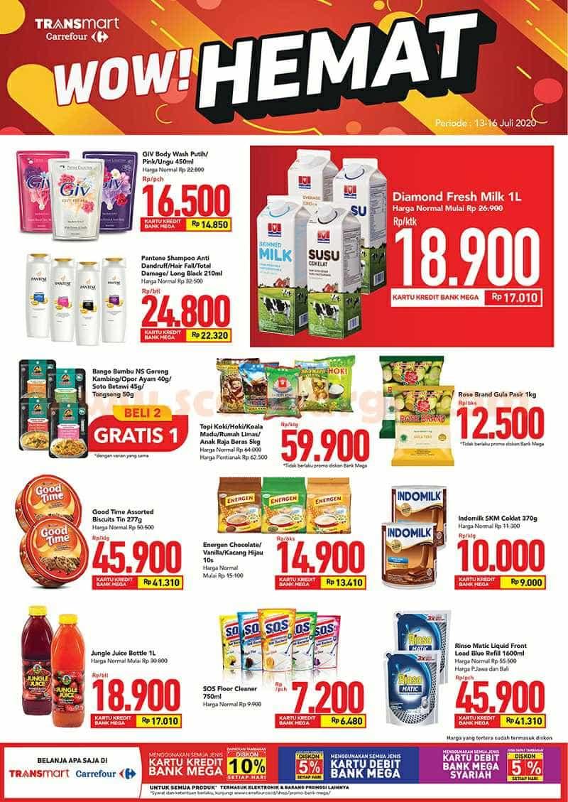 Transmart Carrefour Promo Mingguan WOW HEMAT! Periode 13 - 16 Juli 2020