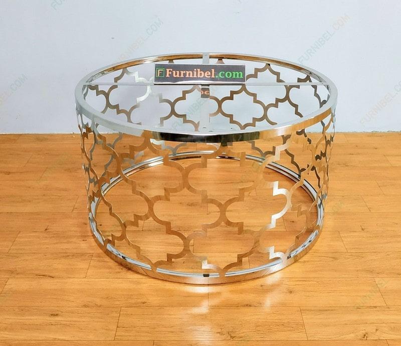 Meja Tamu Stainless Marmer Custom Desain