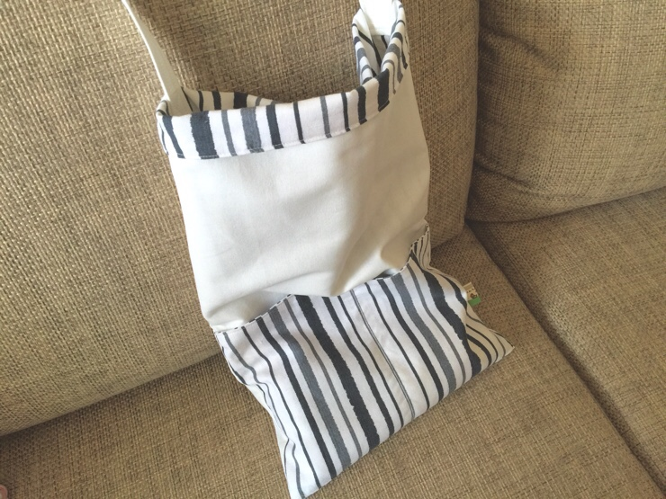 Easy  Reusable Grocery Bag Tote Tutorial.
