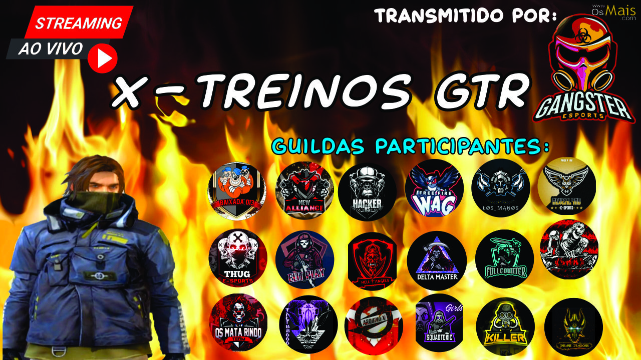X-TREINO GTR E-SPORTS - FREE FIRE!