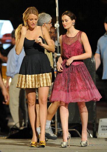 Blair e Serena looks de festa