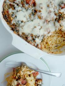 baked florentine spaghetti #sweetsavoryeats #covid19
