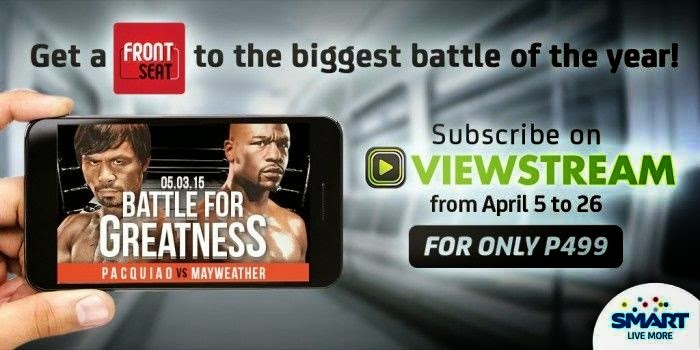 Watch Pacquiao-Mayweather Live on your smartphones using Viewstream
