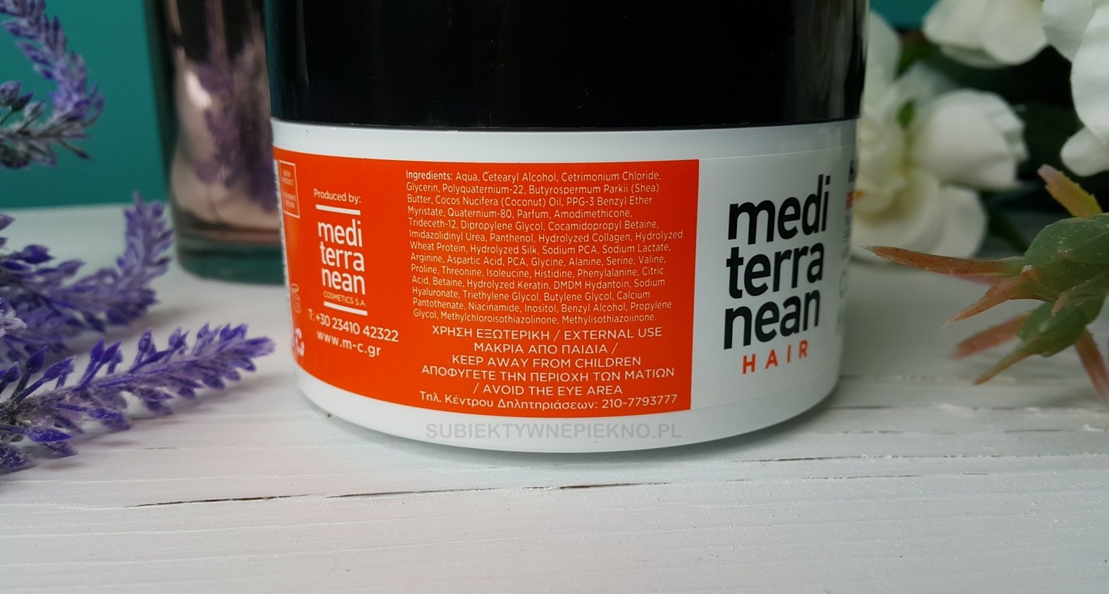maska regenerująca do włosów mediterranean skład działanie opinie blog