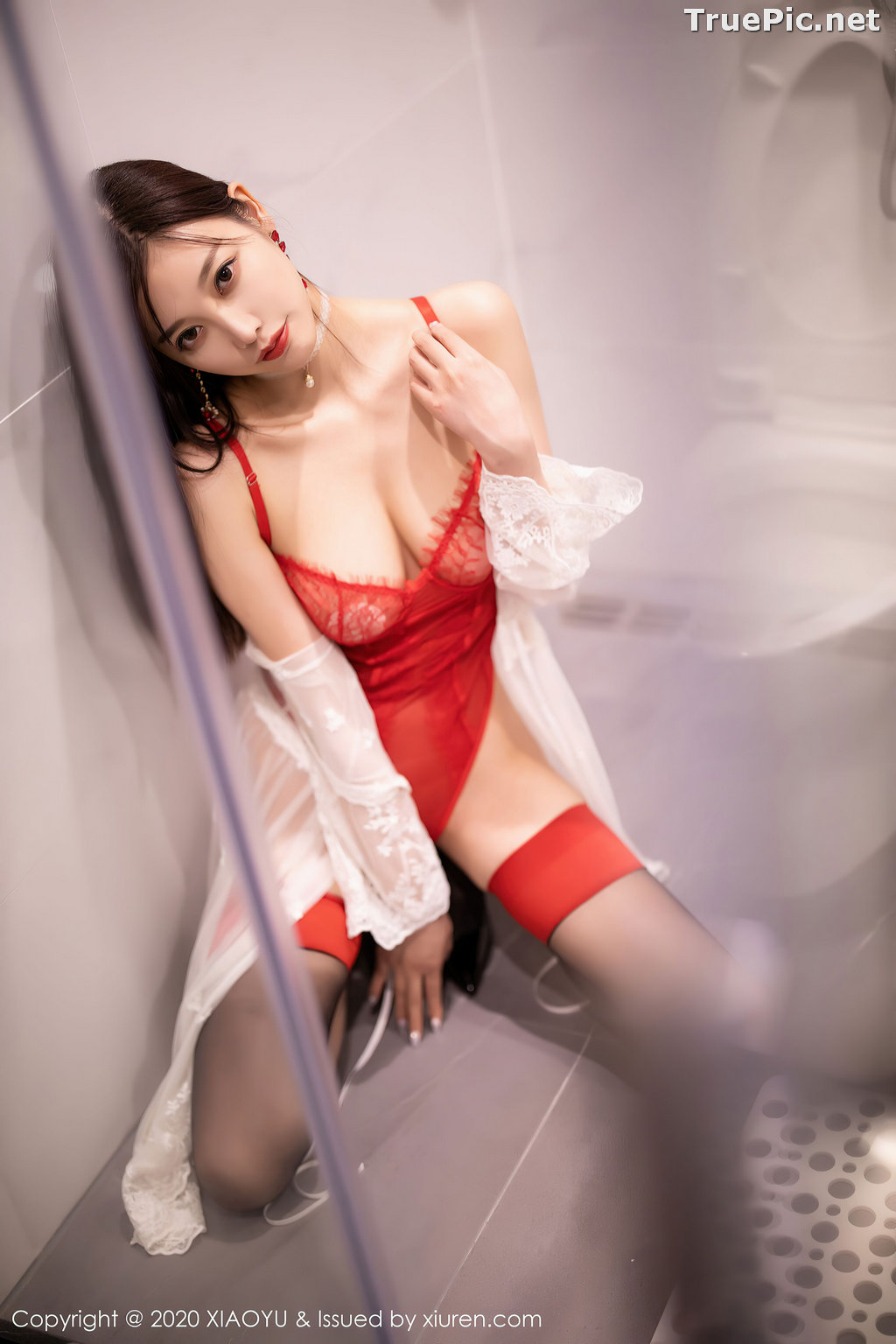 Image XiaoYu Vol.413 - Chinese Model - Yang Chen Chen (杨晨晨sugar)- Red Crystal-clear Lingerie - TruePic.net - Picture-11