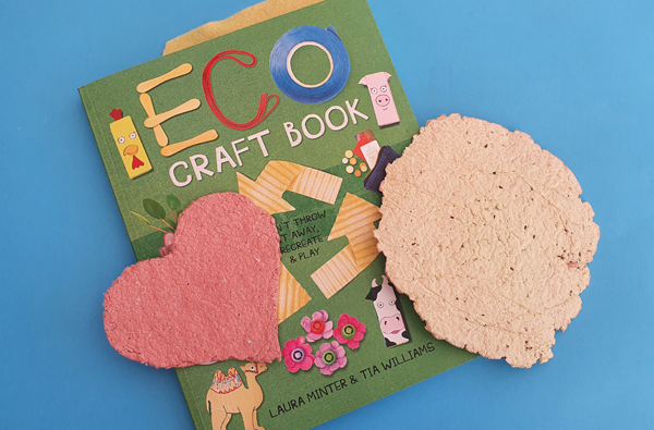 Eco Craft book on how to make paper with seeds imbedded.