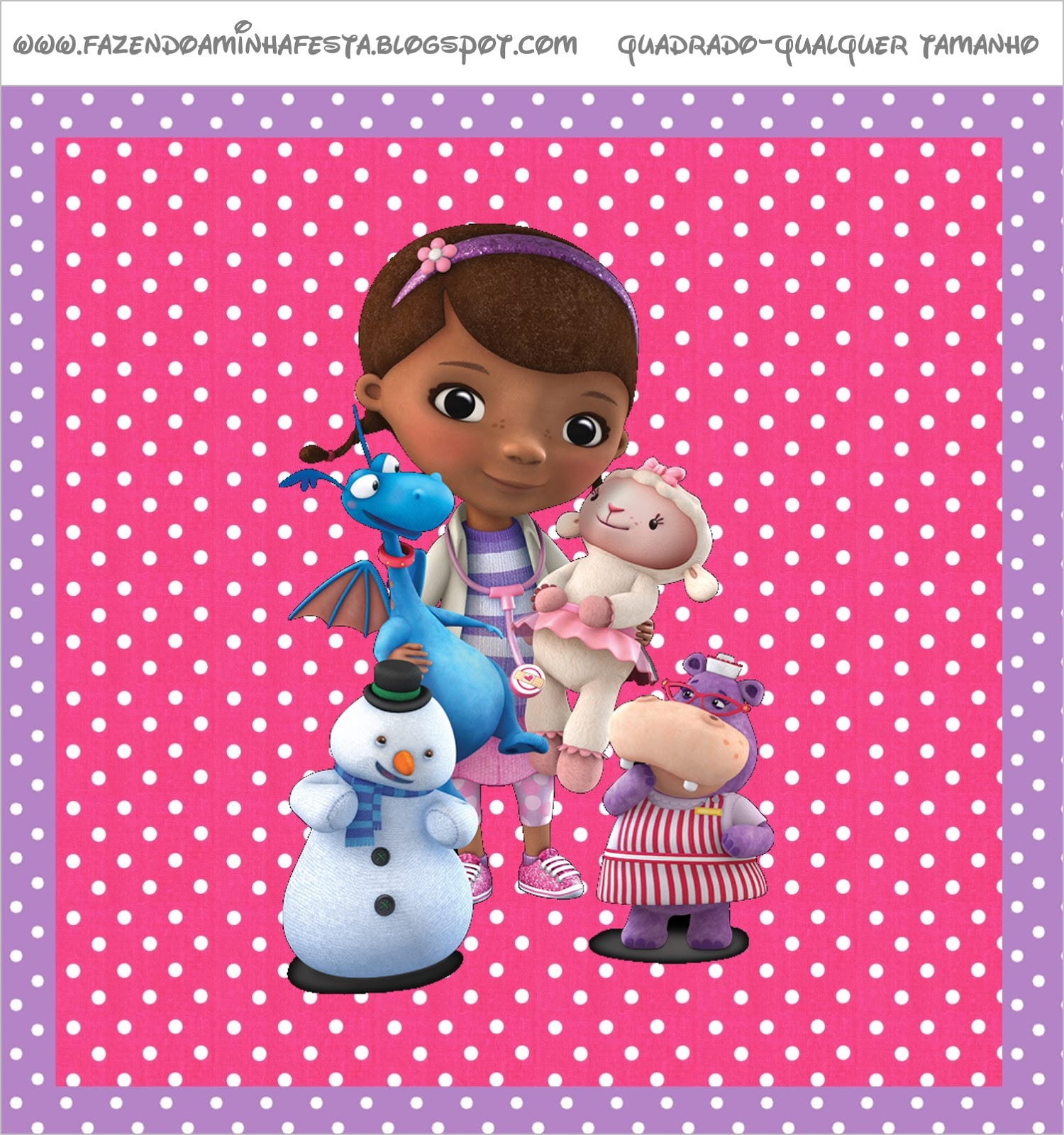 This is an image of Sassy Free Doc Mcstuffins Printable