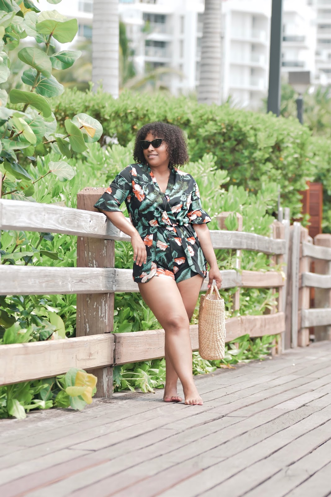 Shein, shein gals, summer outfits, outfit ideas for summer, beach coverups, floral print, summer looks, natural hair