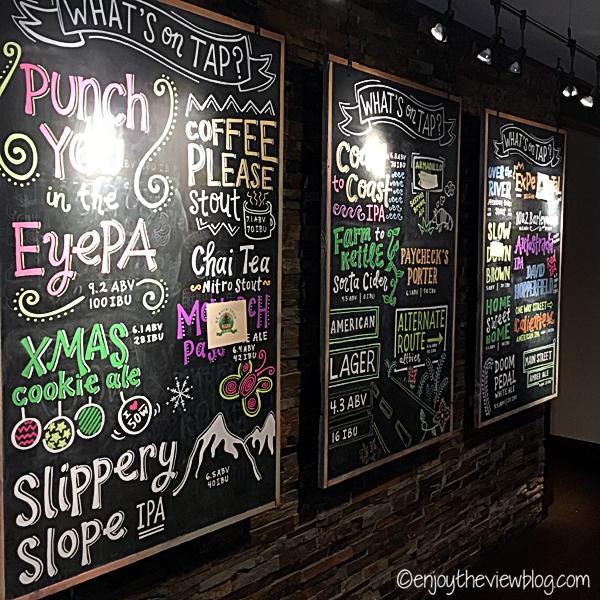 colorful chalkboard beer menu