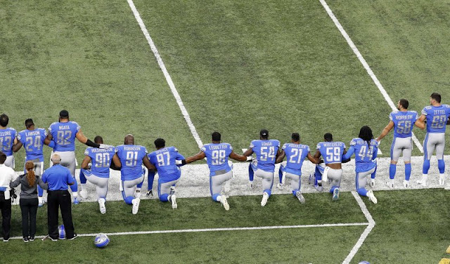 NFL protests sports story of 2017