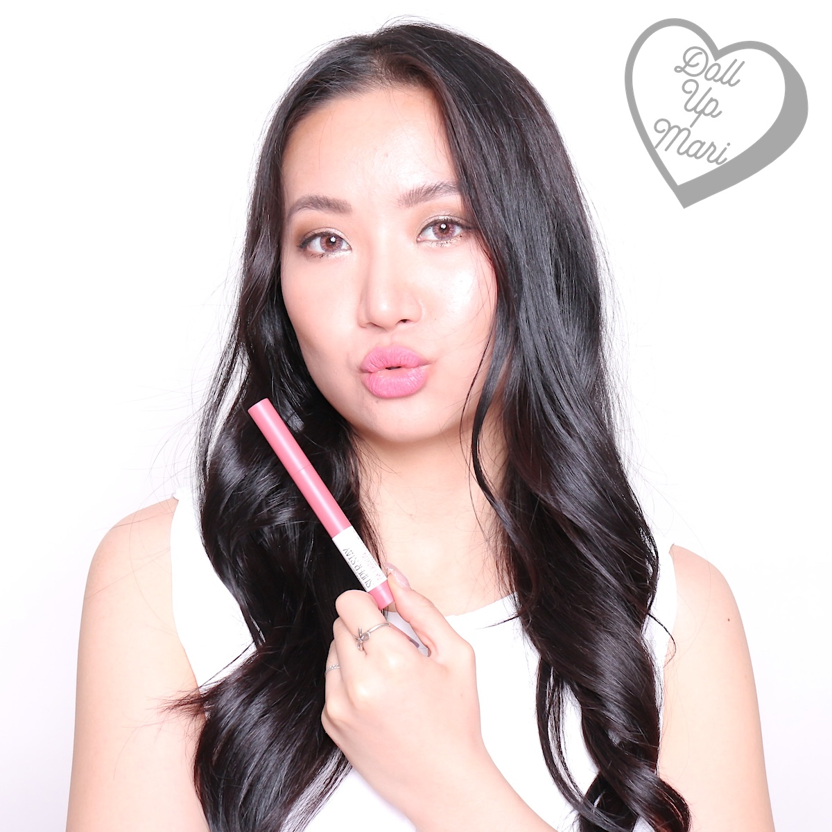 dollupmari wearing 90 Keep It Fun shade of Maybelline Superstay Ink Crayon 8HR Longwear Matte Lipstick