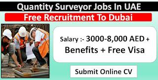 Quantity Surveyor Civil Requirement in Construction Company Dubai
