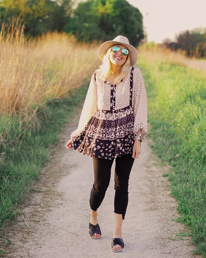 spring boho outfit