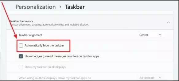 Cara Menyembunyikan Taskbar Windows 11-6