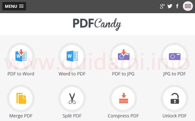 PDF Candy sito internet per modificare documenti PDF online