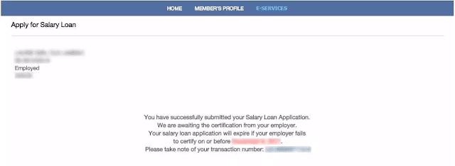 sss salary loan application
