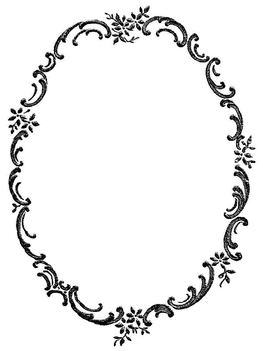 Digital Stamp Design Free Digital Fancy Floral Frame Border Clip Art