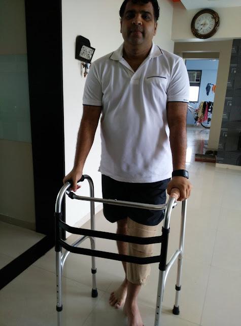 Jitendra Jain starts walking
