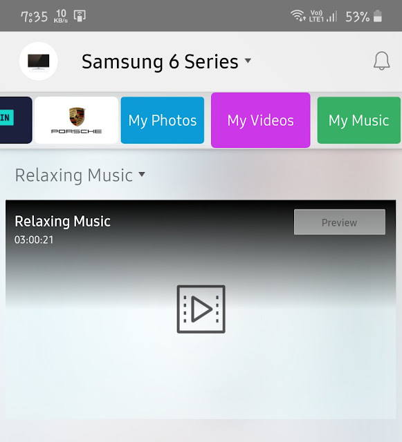 Cast video on Samsung Smart TV