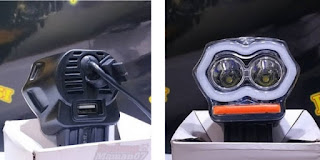 Model Lampu LED Owl Mini 2 Mata Dengan USB Charger