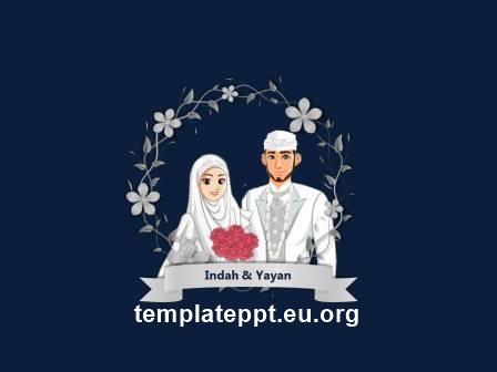 Slide 3 template power point undangan pernikahan islami gratis