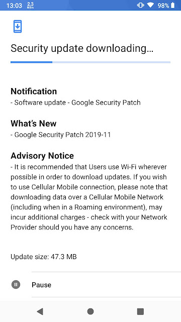 Nokia 2.1 receiving November 2019 Android Security patch