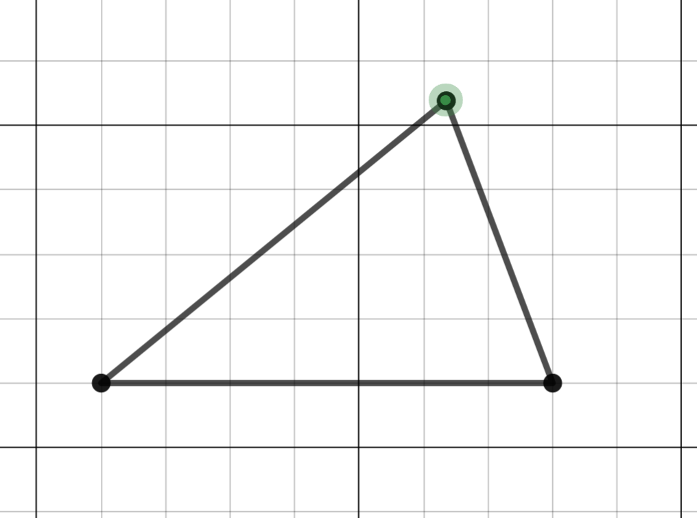 how to make a triangle on desmos
