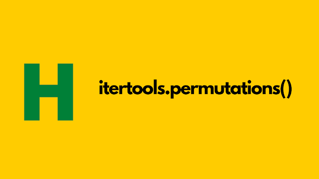 HackerRank itertools.permutations() in python problem solution