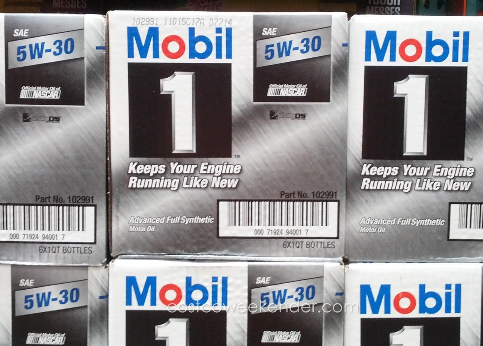Save money and change your own car's engine oil with Mobil 1 5W-30 synthetic motor oil