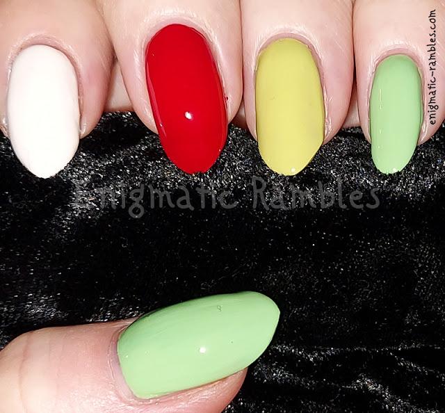 Bright Skittle Nails