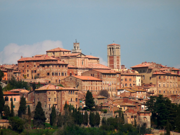 Montepulciano medieval town in Italy