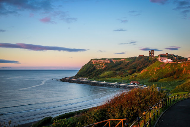 Scarborough Castle, Sunset, mandy charlton, travel blogger, photographer