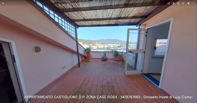 Castiglione-della-Pescaia, case rosa, appartamento trilocale terrazzato