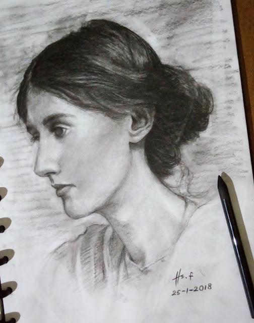 """""""Virginia Woolf Drawing"""""""