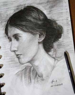 """Virginia Woolf Drawing"""