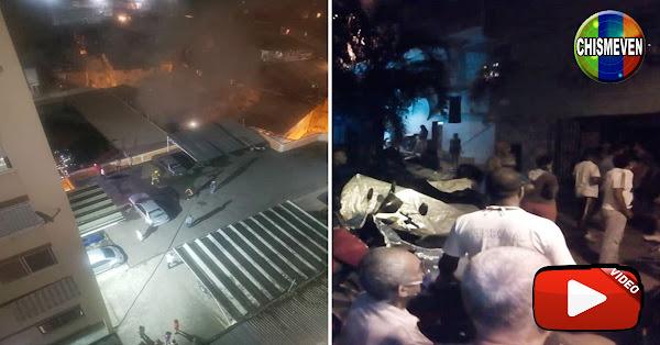 Explosión de bombona de gas en la Andrés Bello dejó 1 muerto y 4 heridos