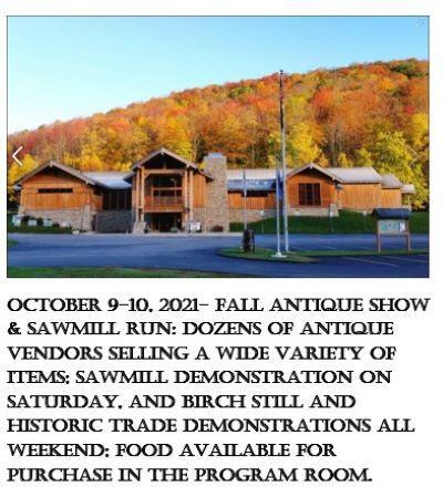 10-9/10 Fall Antique Show & Sawmill Run, PA Lumber Museum
