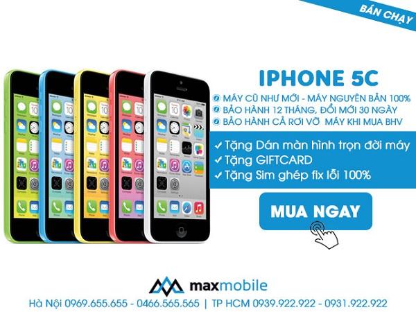 mua iPhone 5C bản Lock tại MaxMobile