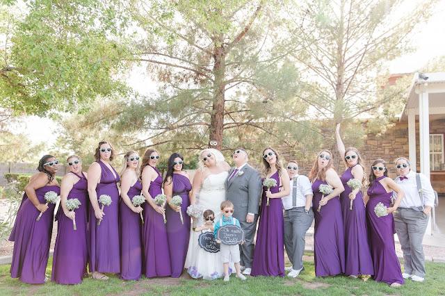 Wedding Party at a Shenandoah Mill Lesbian Wedding in Gilbert, AZ