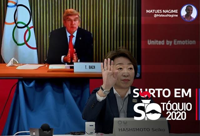 Reunião por vídeo conferência tóquio 2020
