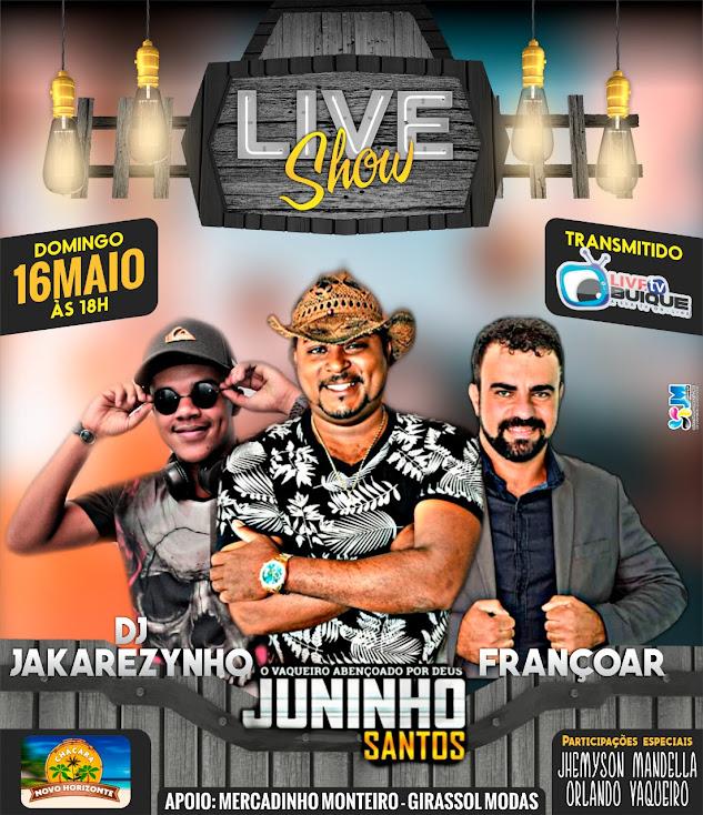 Live show, promovida pelo repórter e apresentador Tony Silva será transmitida  para o mundo  no próximo domingo, dia 16 via Live TV Buíque